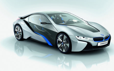 White BMW I8 HD wallpaper