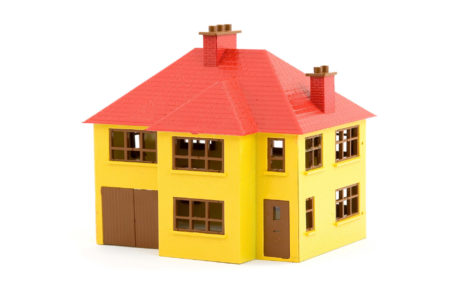 Yellow & Red toy house HD wallpaper