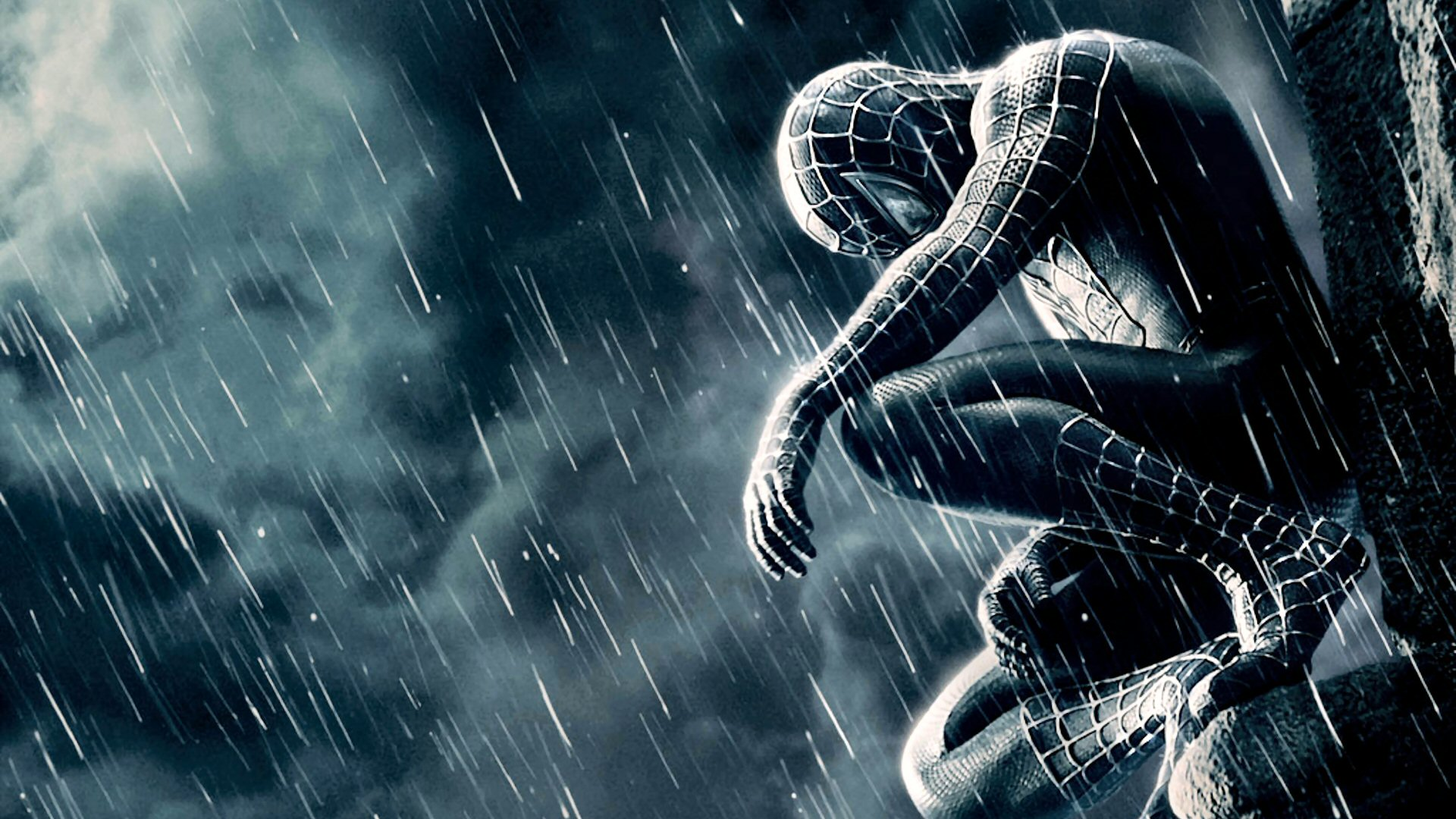 Black Spider Man HD Wallpaper