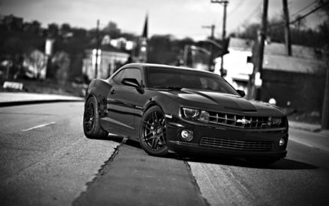 Black & White Chevrolet Camaro HD wallpaper