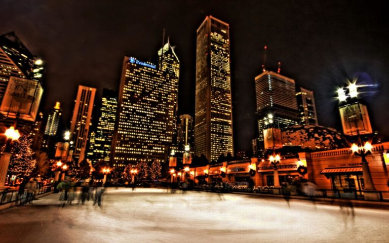 Chicago Ice Skating HD wallpaper