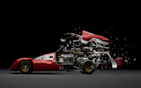 Disintegrating Ferrari 330 P41 HD wallpaper