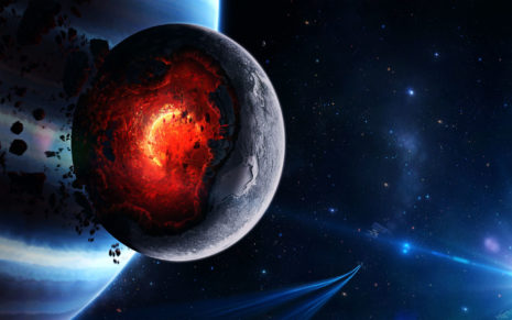 Explosion in planet HD wallpaper