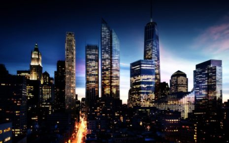 Future Manhattan Skyline HD wallpaper