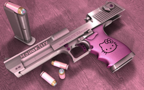 Hello Kitty gun HD wallpaper