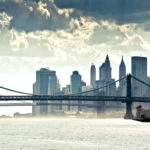 Manhattan Panorama River HD wallpaper