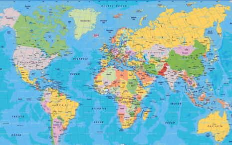 Map of the world HD wallpaper