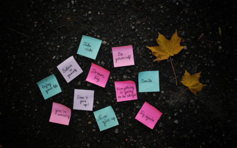Motivational post-its HD wallpaper
