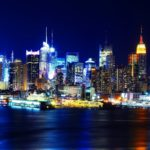 New York night light reflection HD wallpaper