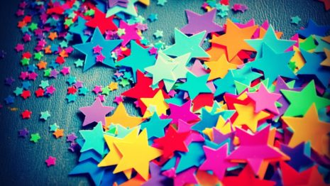 Paper colorful stars HD wallpaper