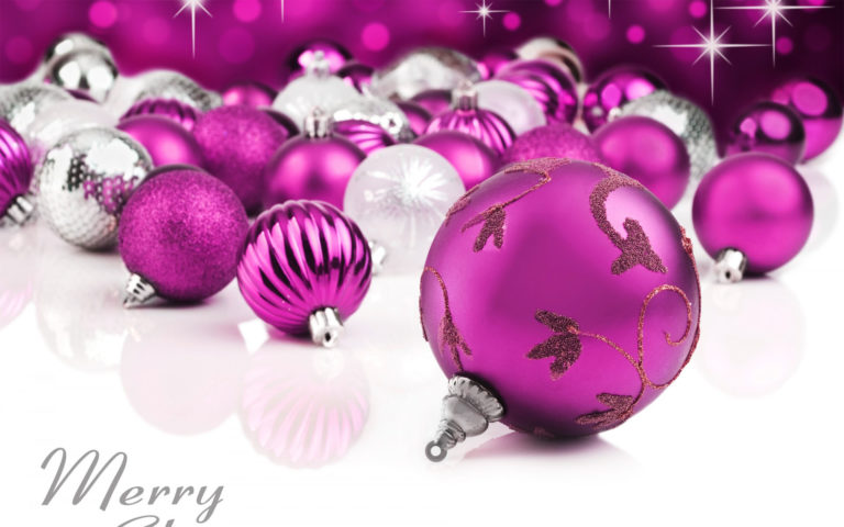 Purple Christmas Ornament HD wallpaper