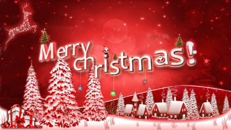 Red tone Merry Christmas HD wallpaper