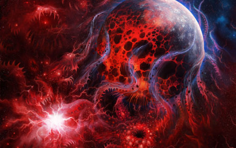 Space demonic art HD wallpaper