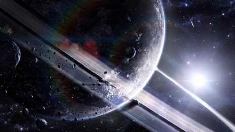 Space scene HD Wallpaper