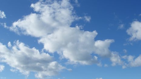 White clouds HD wallpaper