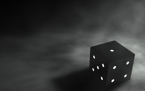 3D Black Dice HD wallpaper