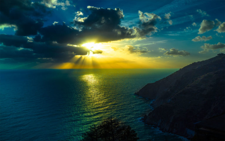 Astonishing Ocean and clouds HD wallpaper