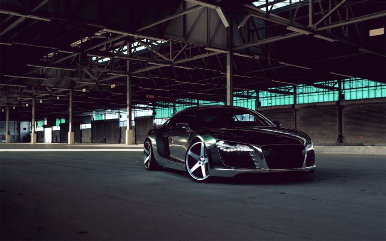Audi R8 Chrome HD wallpaper