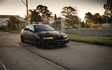 Black BMW E46 HD wallpaper