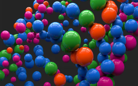 Bright colorful balloons HD wallpaper