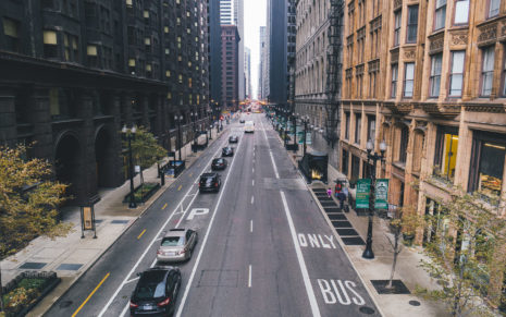 Chicago street traffic HD wallpaper