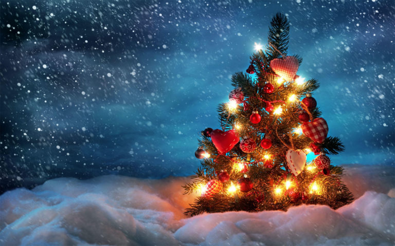 Christmas gift tree HD wallpaper
