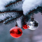 Christmas snowflakes ornaments HD wallpaper