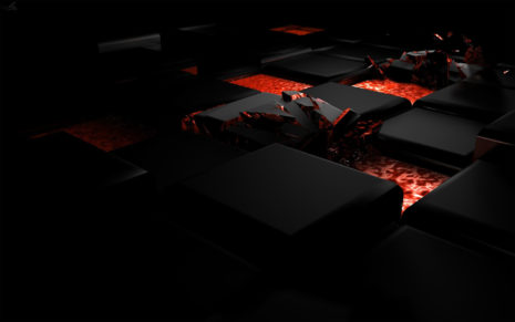 Dark cubes of fire HD wallpaper