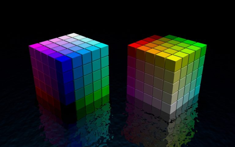 Dice made of cubes HD wallpaper