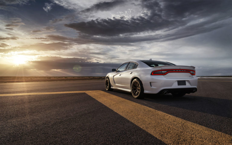 Dodge white SRT HD wallpaper