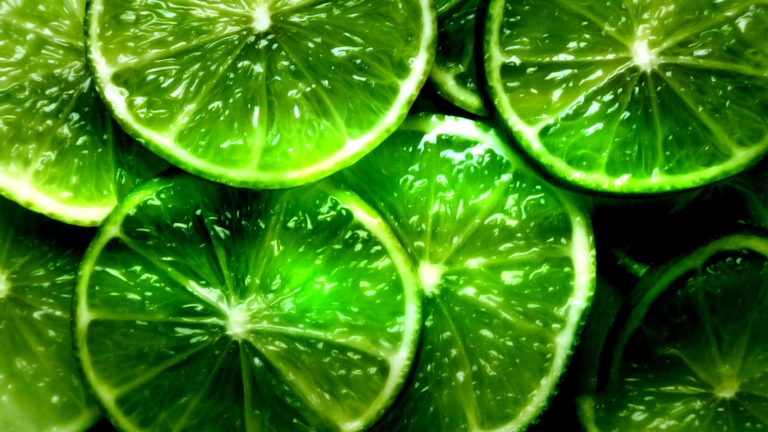 Green Lime Segments HD wallpaper