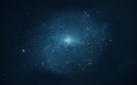 Magnificent blue space HD wallpaper