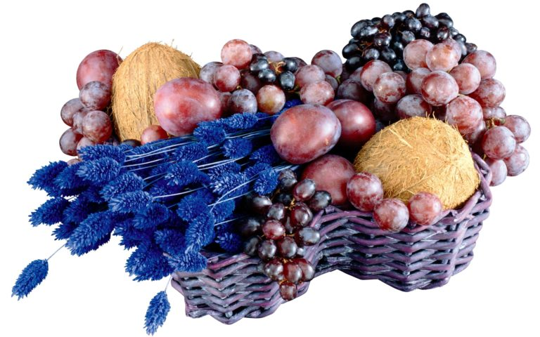Melon Grapes & fruit basket HD wallpaper