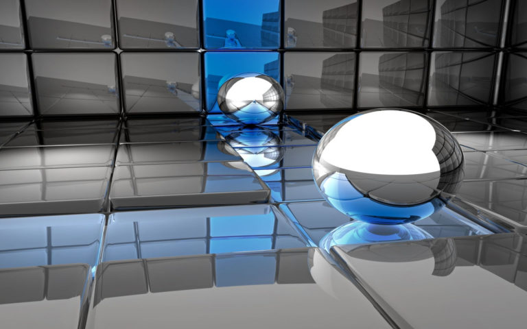 Metal ball toy on surface HD wallpaper