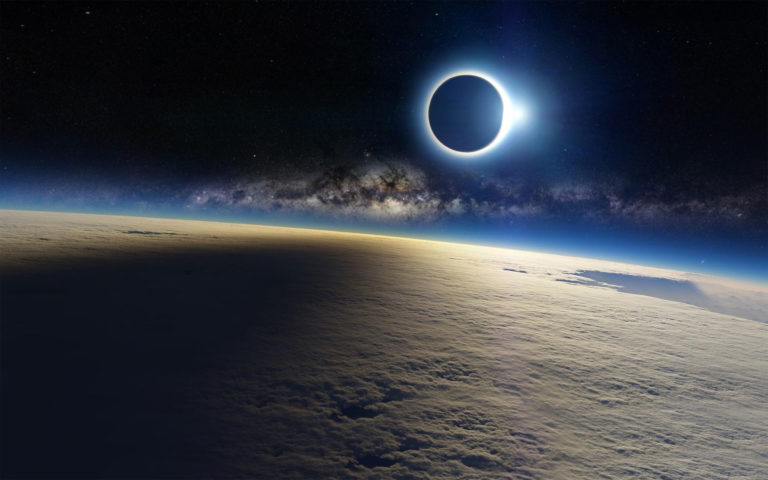 Milky Way Eclipse HD wallpaper