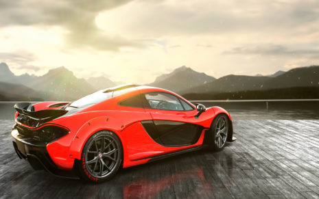 Rear of Red Maclaren HD wallpaper