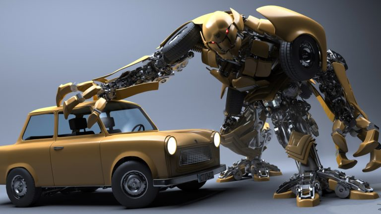 Robot toy car wreck HD wallpaper