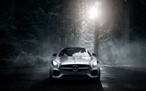 Silver Mercedes Benz HD wallpaper