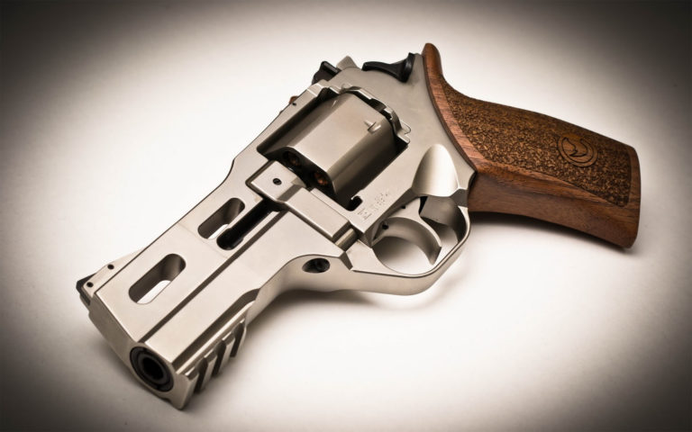 Small silver revolver HD wallpaper