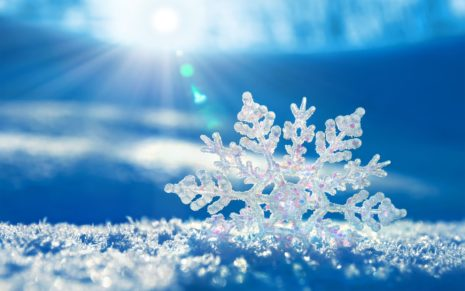 Snowflakes HD wallpaper 1