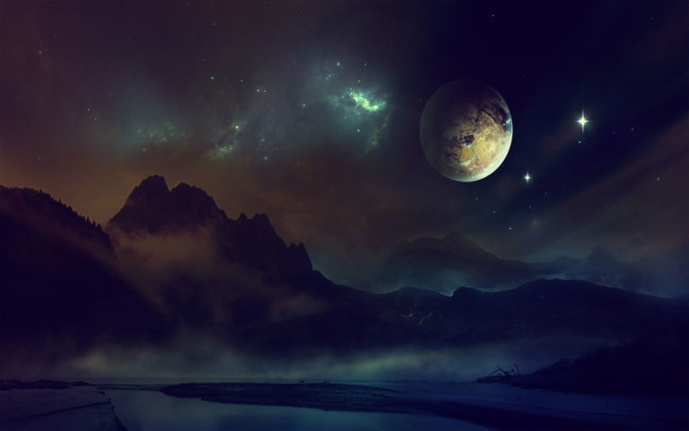 Space night HD wallpaper