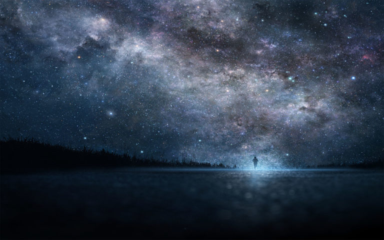 Starry sky photography HD wallpaper 1