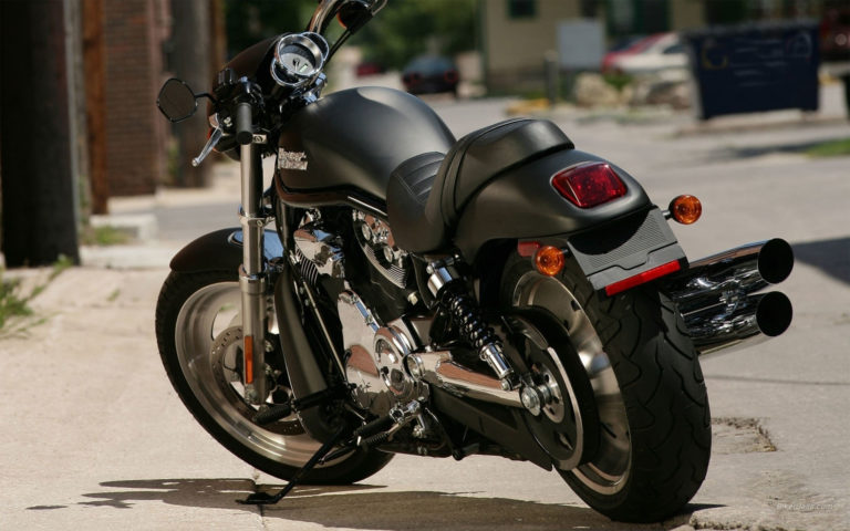 Stylish Black Harley Davidson HD wallpaper