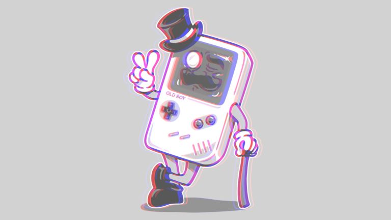 Walking gameboy HD wallpaper