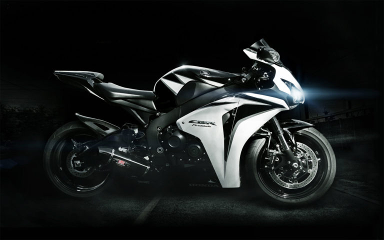 White Honda CBR Fireblade HD wallpaper