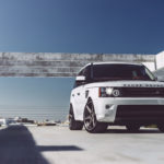 White Range Rover HD wallpaper