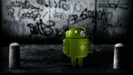 Android with glowing eyes HD wallpaper