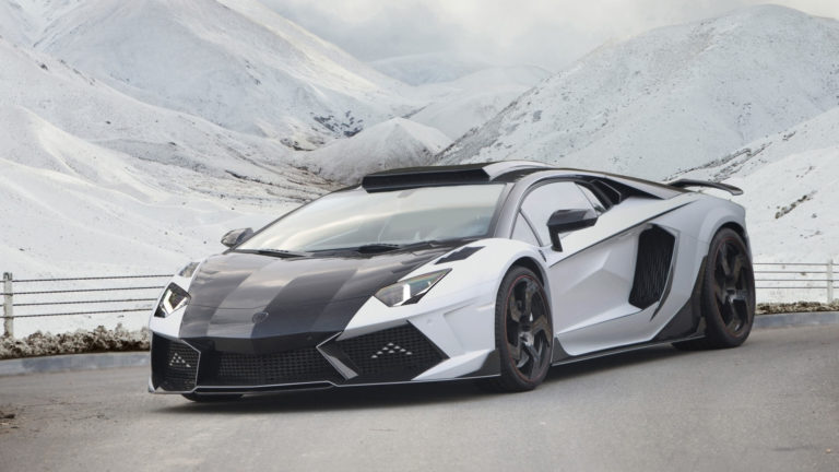Black & White Lamborghini HD wallpaper