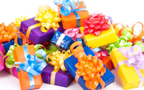 Colorful gift box set HD wallpaper