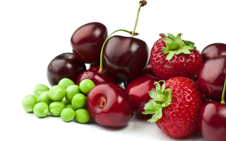 Delicious Red & Green fruits HD wallpaper